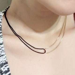 🚚 ➰金屬線極簡個性雙C短鍊.頸鍊