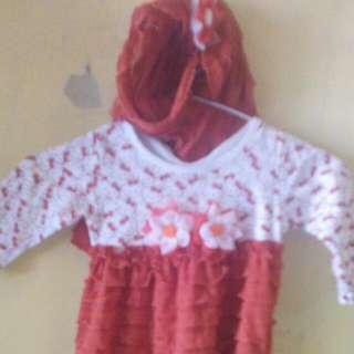 Baju Muslim 1-2 Thn