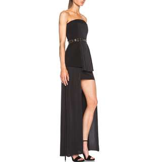 Sass & Bide - See Then Saw Strapless Dress - Black/ Gold - Size 8 - BNWT - RRP $790