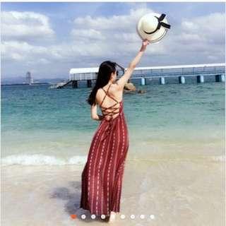 波希米亞美背長洋 海灘海邊度假🏖️