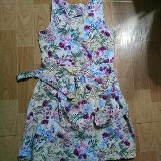 Floral Dress (Open Back)