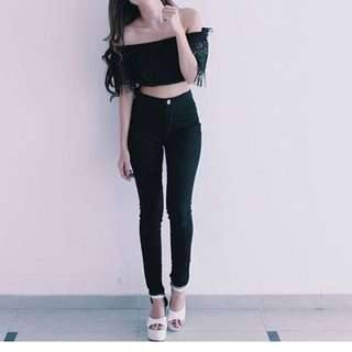 Highwaist Black Jeans