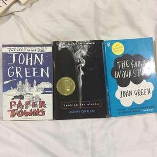 Set of 3 Novels by John Green