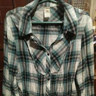 Preloved People are People Plaid Top