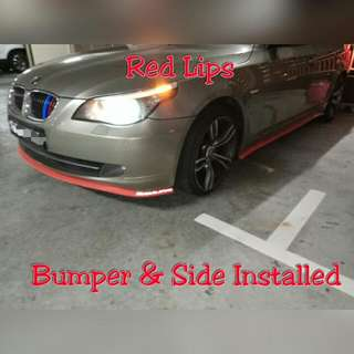 Bumper & Side Skirt Lips Installed (Red)