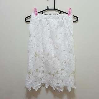 🚚 立體雕花彈性長裙