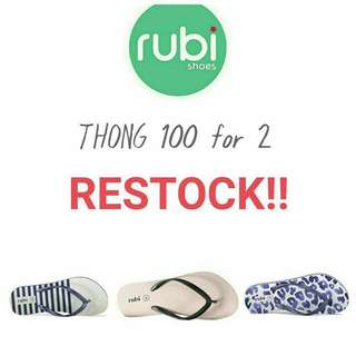 RUBI Thong promo 100 For 2 (2pasang)