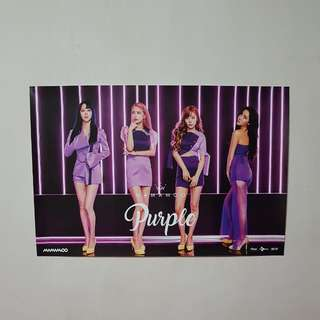 Mamamoo Official Purple Poster