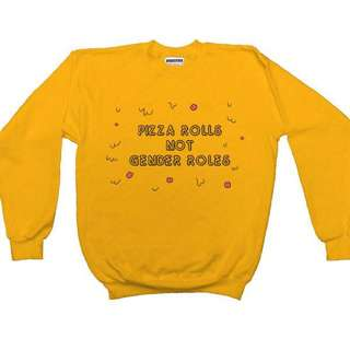 """Pizza roles not gender roles"" Crewneck"