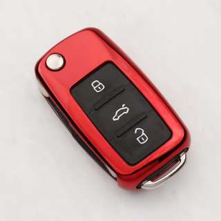 Volkswagen VW Key Car Cover - Premium Silicone with Gloss Metallic Finish