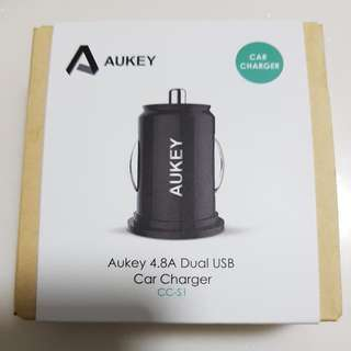 Aukey 4.8A Dual USB Car Charger CC-S1