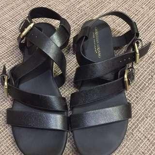 Christian Siriano Black Strappy Sandals
