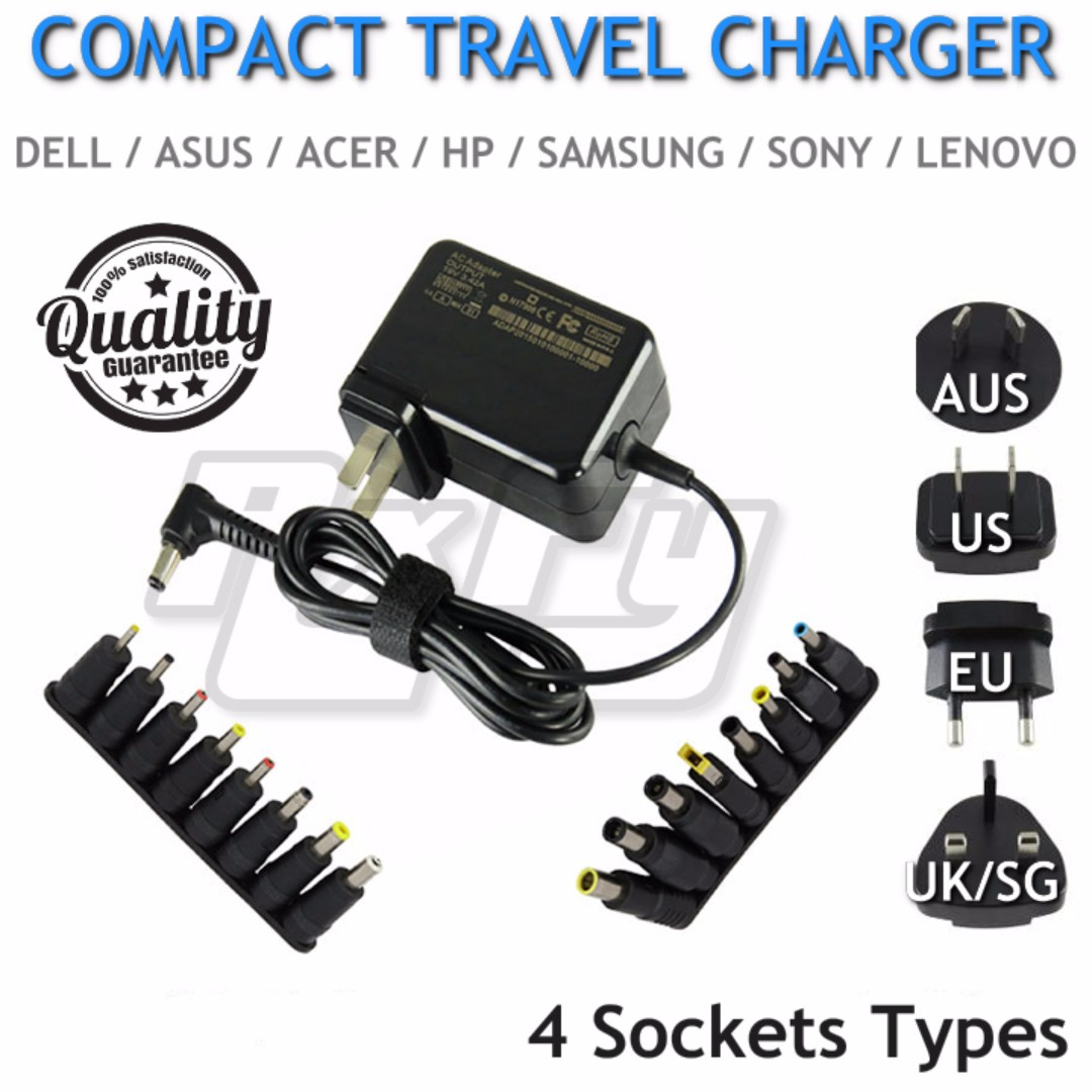 out if stock] ($37 90) 65w universal compact travel adapter charger