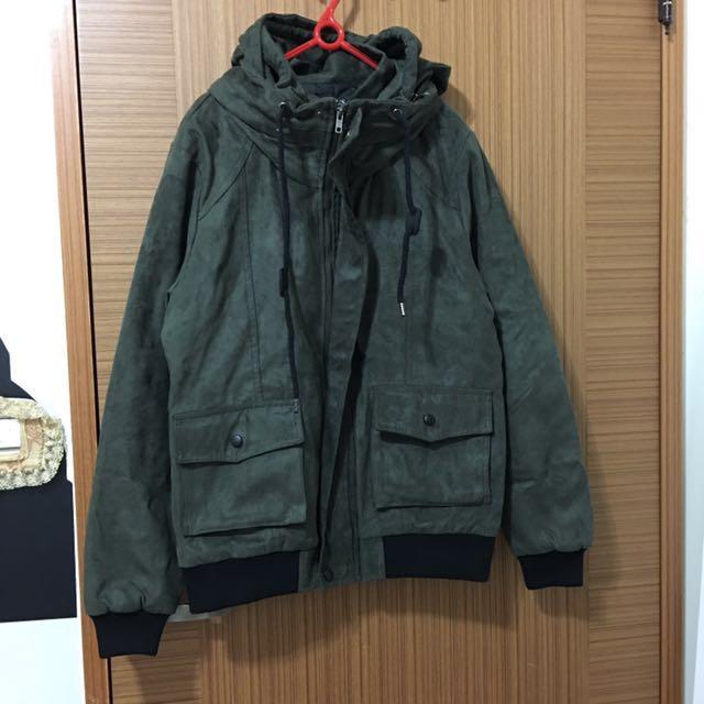 超值軍綠色厚外套