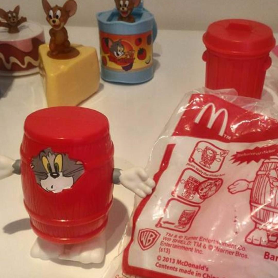 麥當勞玩具公仔&傑利鼠湯姆貓全新單賣