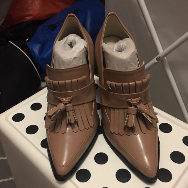 日本帶回漆皮流蘇鞋