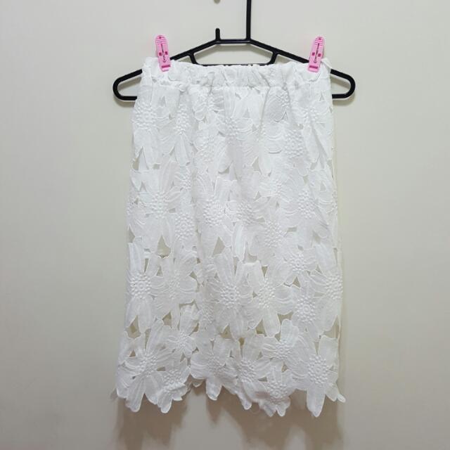 立體雕花彈性長裙