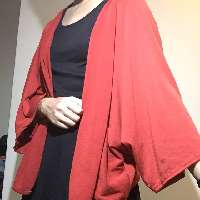 (含運)紅飛鼠袖罩衫