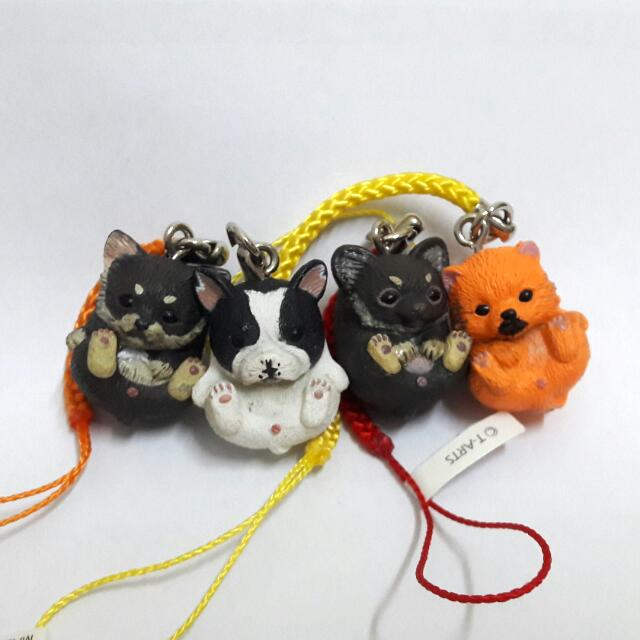 圓滾滾扭蛋  轉蛋 吊飾  擺飾  鑰匙圈  柴犬  法鬥