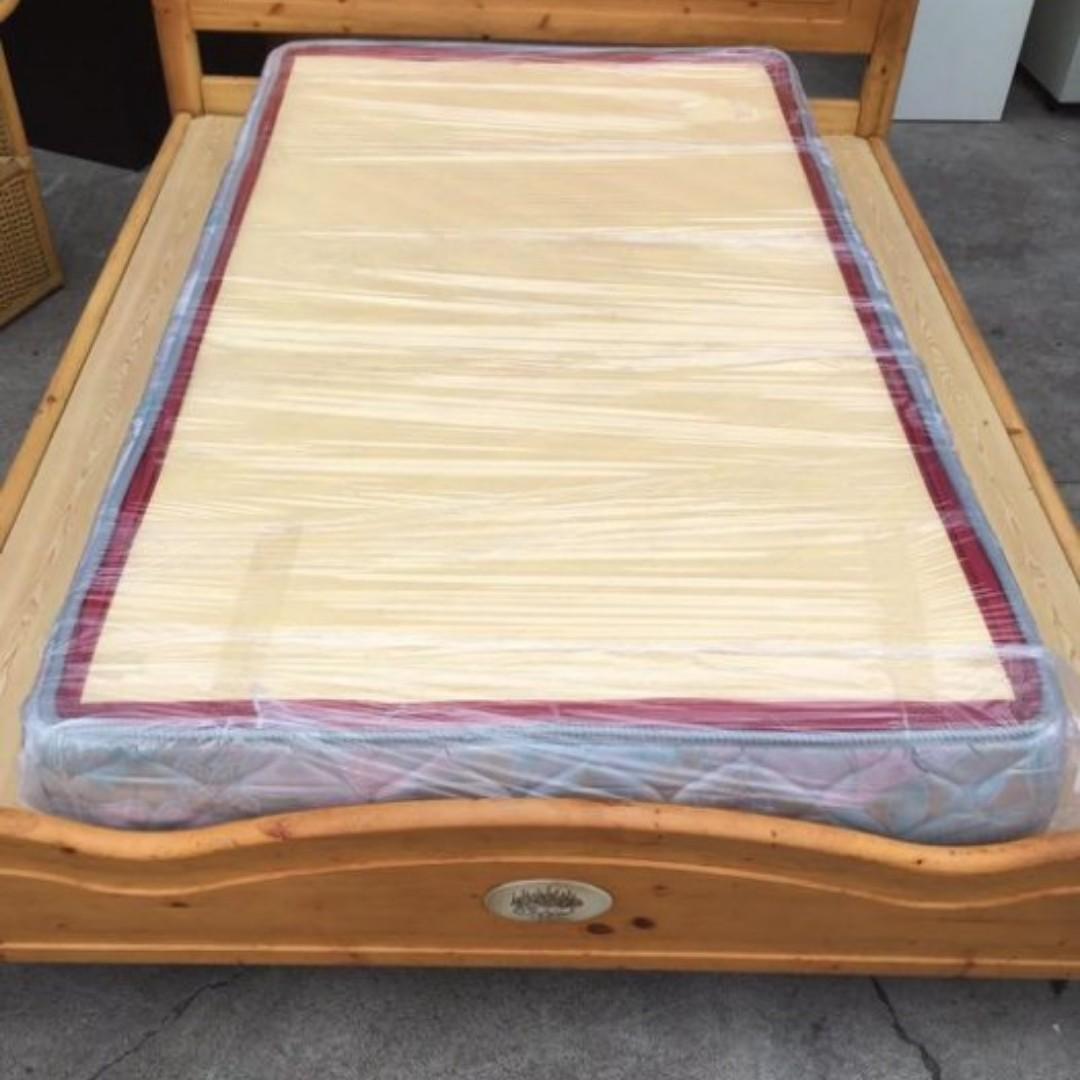 三尺半單人加大床墊 實木床架 床頭櫃 床箱 床頭片 床架 掀床 床頭箱 B986