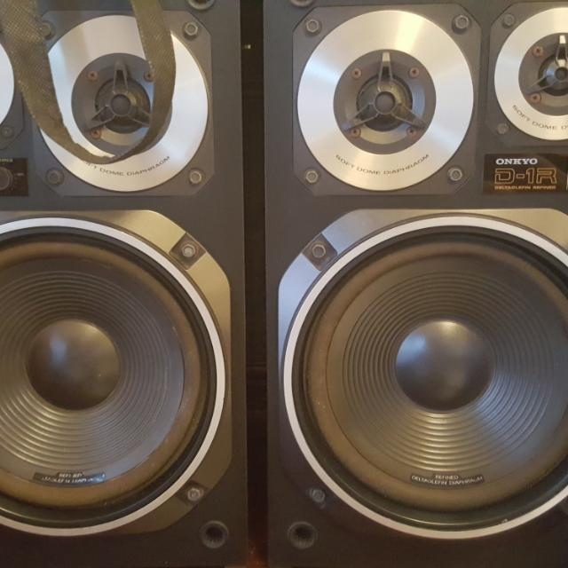 A Pair Of Vintage Onkyo D 1R Bookshelf Speakers Electronics Audio On Carousell