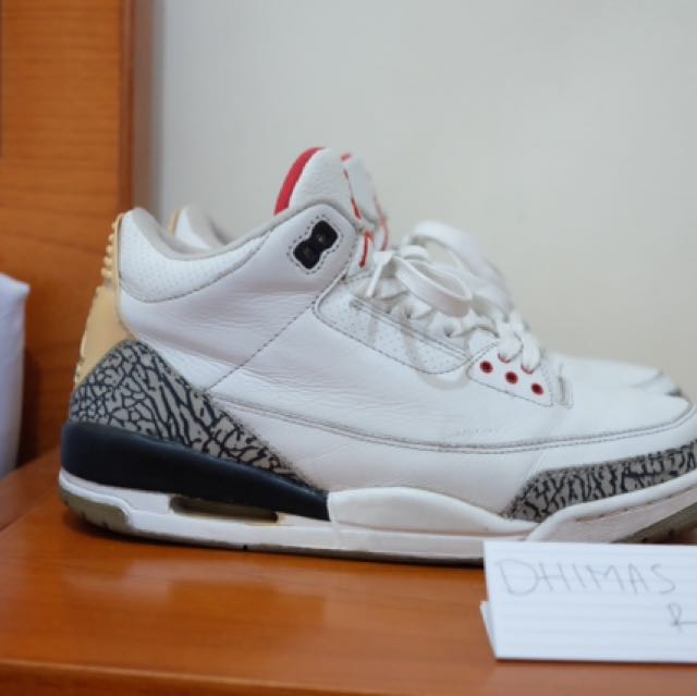 more photos 47f6a 17ed4 Air jordan 3 White Cement 2003, Men's Fashion, Men's ...