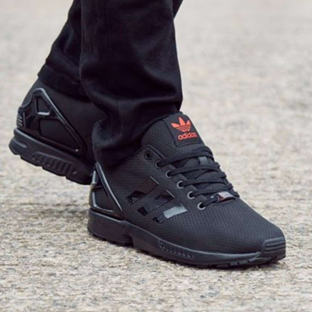 new styles 1f29a 60739 Authentic Adidas Originals ZX Flux Ripstop (Black / Red ...