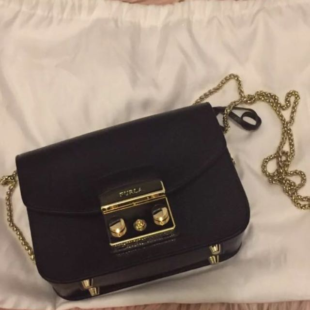 Authentic Furla Metropolis Mini Black Bag