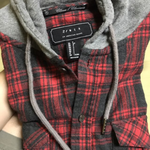 Black And Red Checkered Long-sleeves