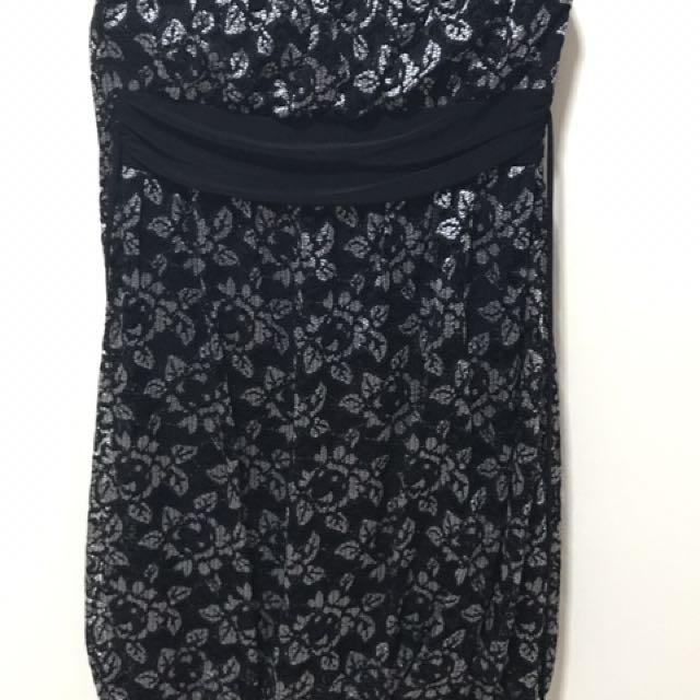 BLACK LACE TUBE DRESS