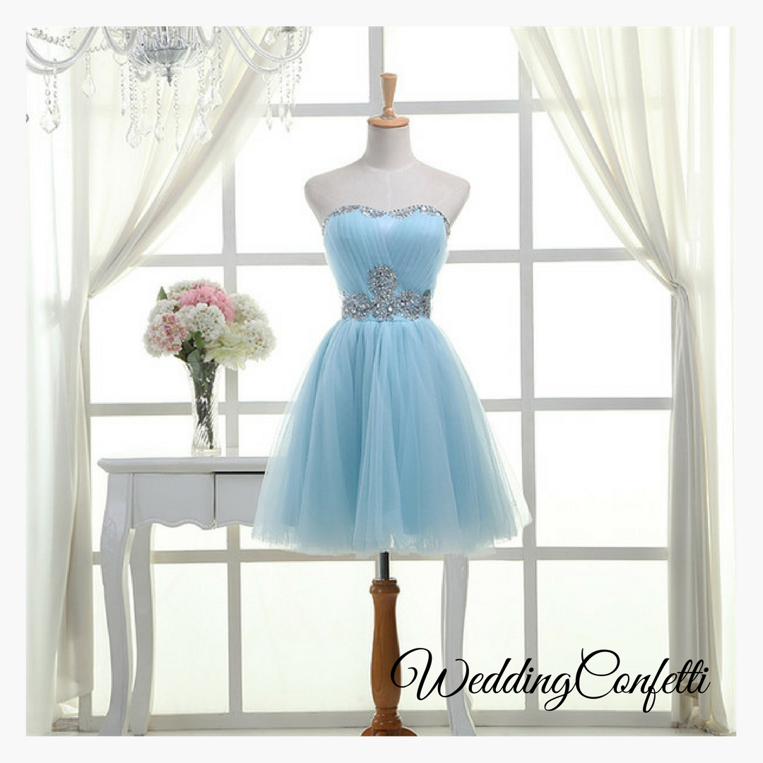 Brand New* Dinah Wedding Bridal Bridesmaid Sky Blue / White / Red ...