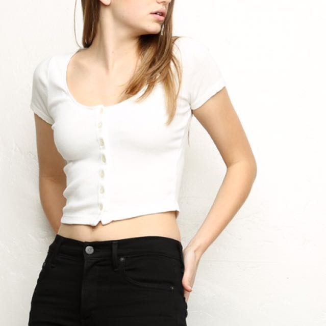 [RS] Brandy Melville Button Up Top