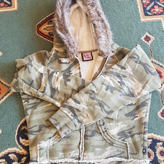 Camo hoodie, Ladies 12