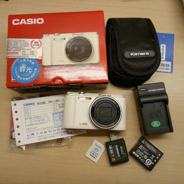 Casio ZR1500卡西歐美肌自拍翻轉相機白色 #爸爸節八折