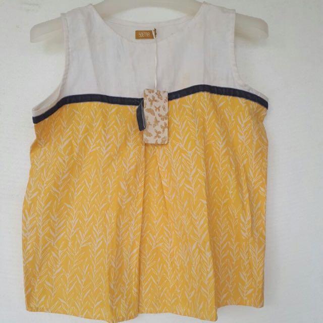 Casual Linen Batik Top Size M