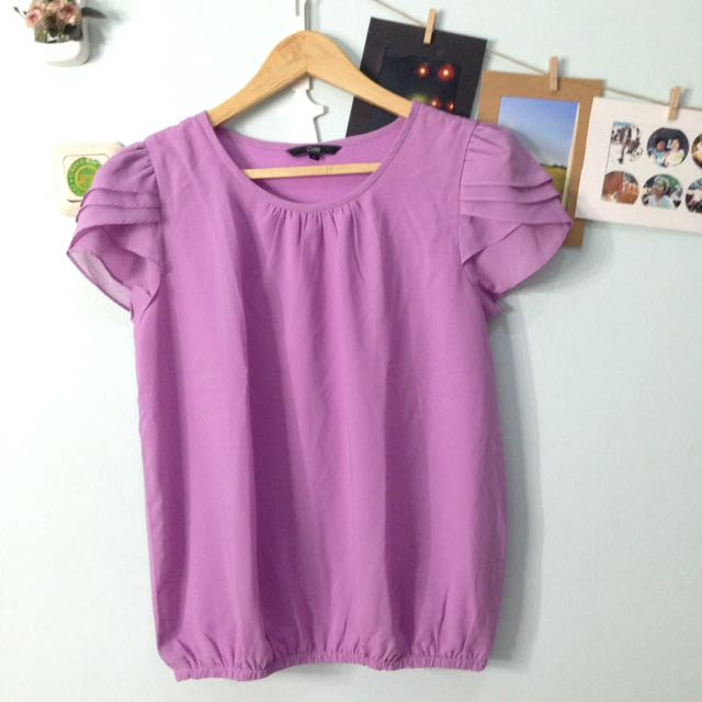 Cole Purple Chiffon Blouse
