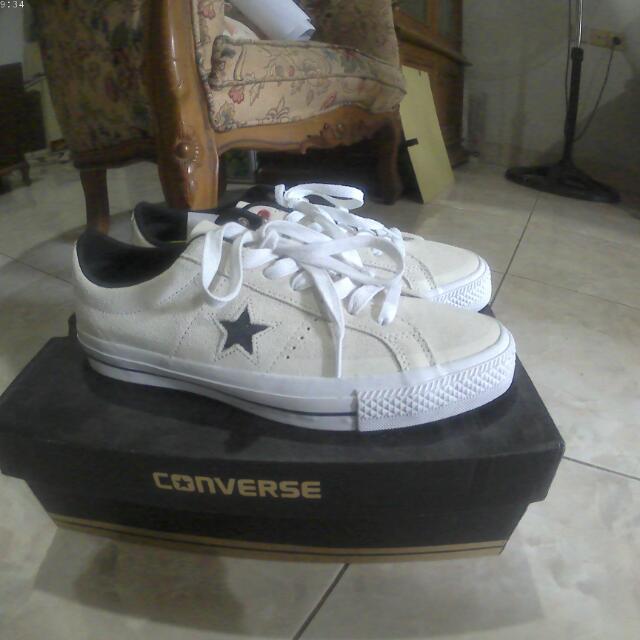 8903414a3b4d4e Converse Cons One Star Pro Suede ox buff black white