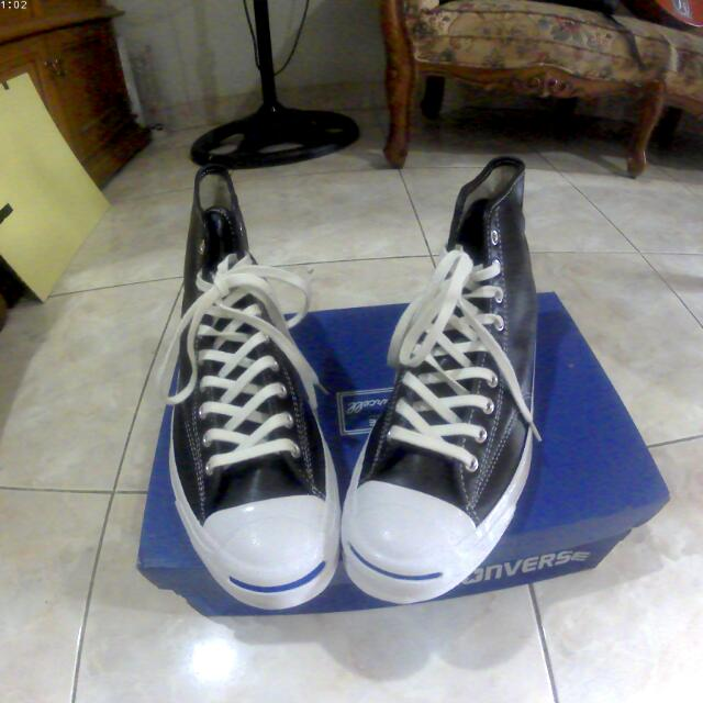 9faa8c67e33b Converse Jack Purcell Signature Hi-Leather Black White