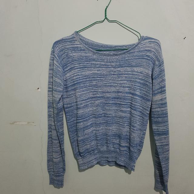 Crop Sweather Blue