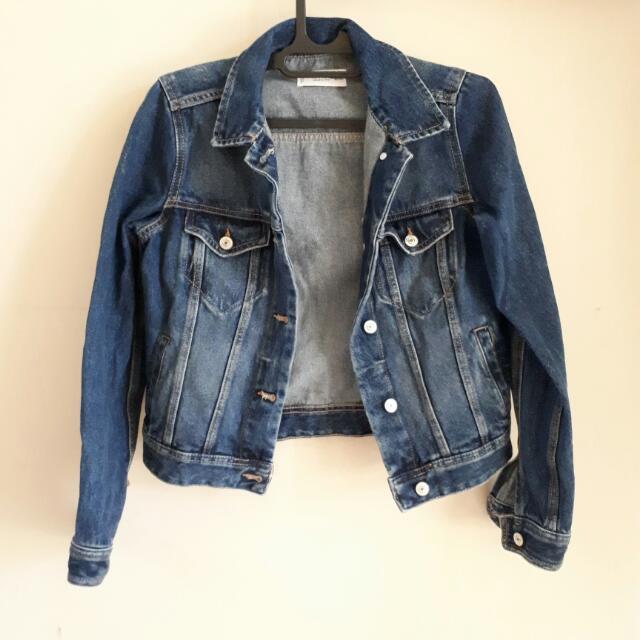 (Reprice) Mango Asli Denim Jacket / Jaket Jeans Biru
