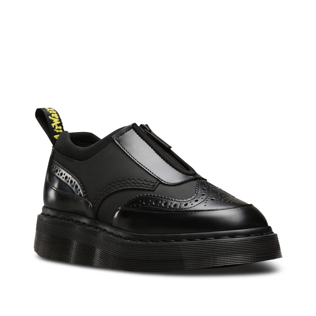 Dr Martens Resnik Zip Brogue 馬汀 拉鍊 雕花 厚底 皮鞋 AW17