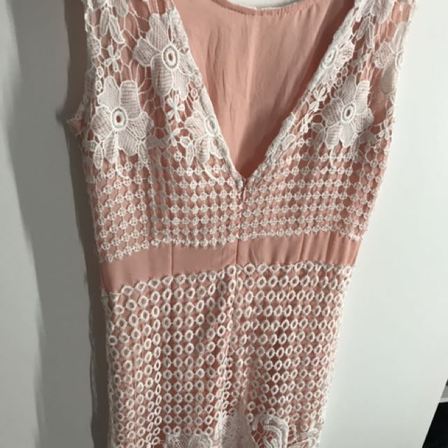 Dress Pink With Lace