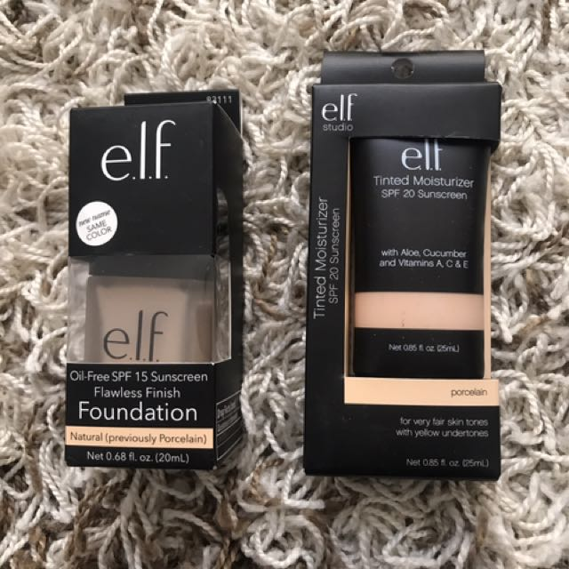 Elf Flawless Finish And Tinted Moisturiser In Porcelain