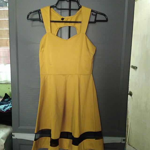 Eunice Mustard Dress