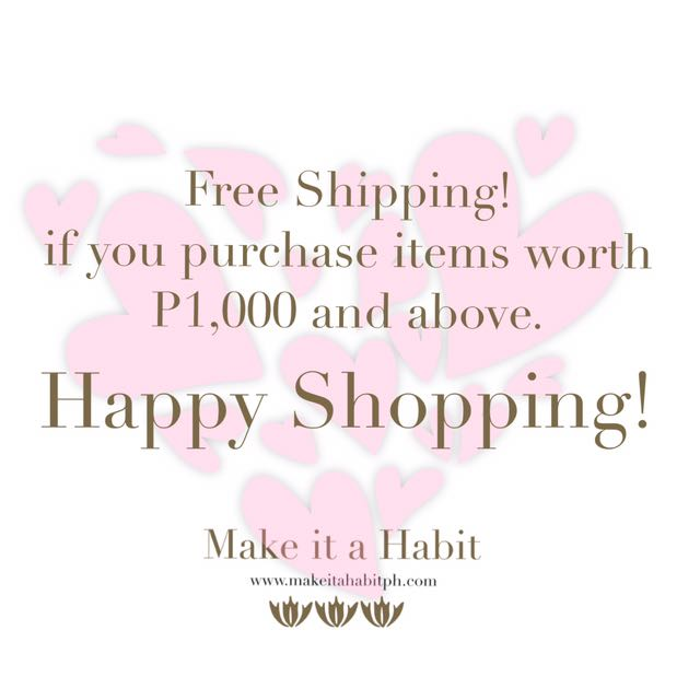 Free Shipping For Purchases Worth P1,000 And Above