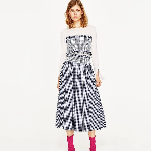 f3290807a823e Gingham Top & Skirt Set, Women's Fashion, Clothes, Dresses & Skirts on  Carousell