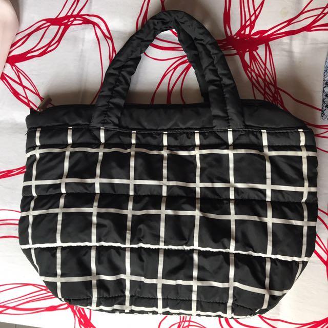 GU Black Handbag