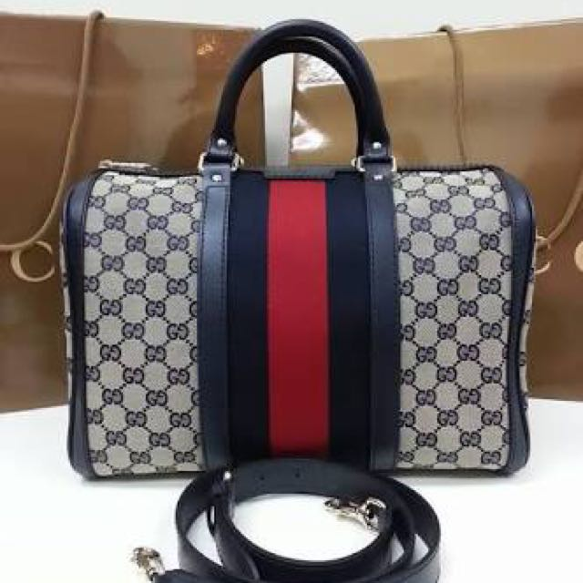 GUCCI Vintage Web Original GG Boston