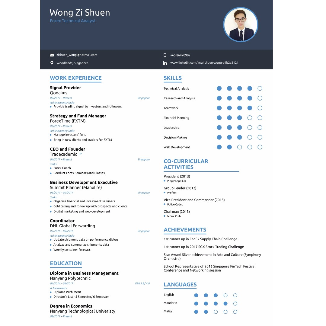 help you to build your professional looking resume