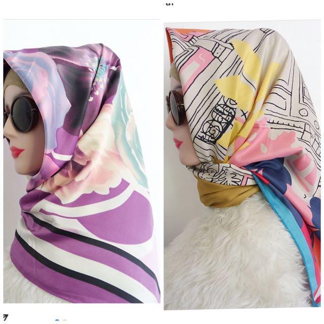 Hijab Square Satin Printing